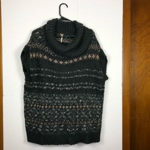 Free People come neck sweater Sz M